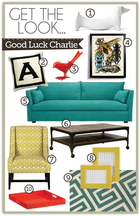 Yes, I watch good luck Charlie...for the decor of course. Love the fun style and bright colors.