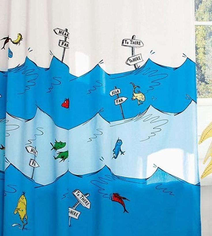 This Would Look Great In A Neutral Bathroom That Needs A Burst Of Color U2014  For. Kids Shower CurtainsCurtains For KidsBathroom CurtainsFish ...