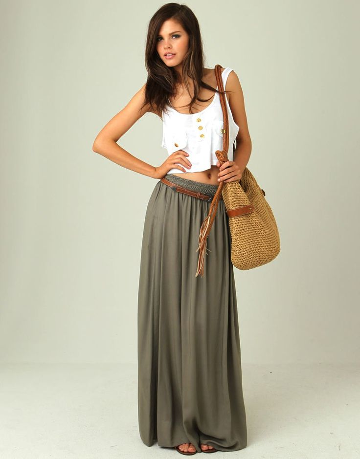 Alluring Maxi Skirt Outfits  Appealing Maxi Skirt Outfits