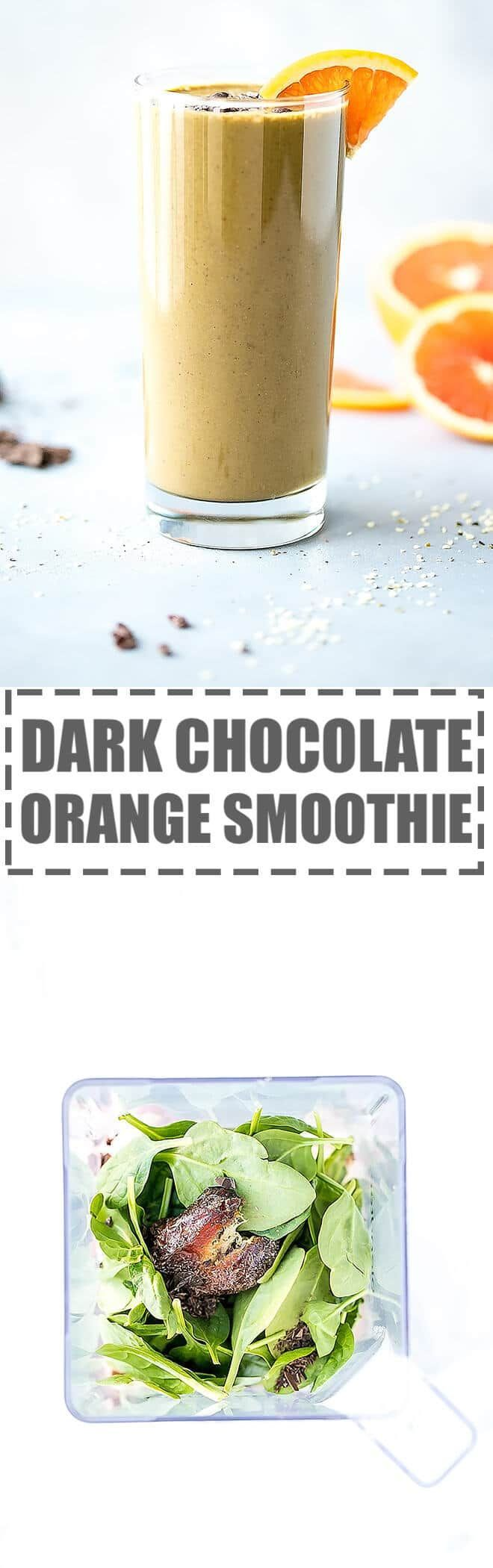 Chocolate Orange Smoothie Recipe - creamy and nutritious, lightly sweet and full of citrusy flavor this smoothie is great for snack or dessert. via @cookinglsl