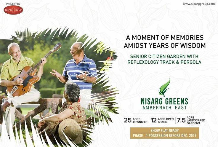 Nisarg Greens - Ambernath East  1, 1.5 & 2 BHK Eco-Residences    Senior Citizen Garden With Reflexology Track & Pergola    http://www.nisarggroup.com/greens/    #realestate #residential #property #homes #residences #nature #greens #ecoluxury