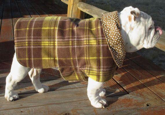 ENGLISH BULLDOG EXTRA Large Reversible Coat,Fleece,Fall