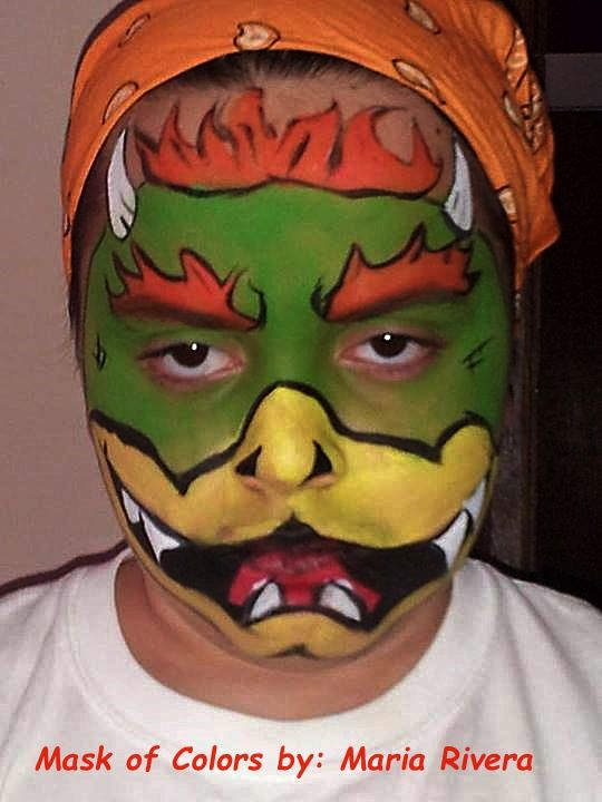 king bowser face painting pinterest king