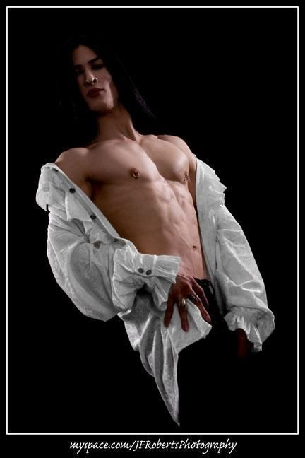 Vampire Long Hair Man Alternative Model Boy Man Https
