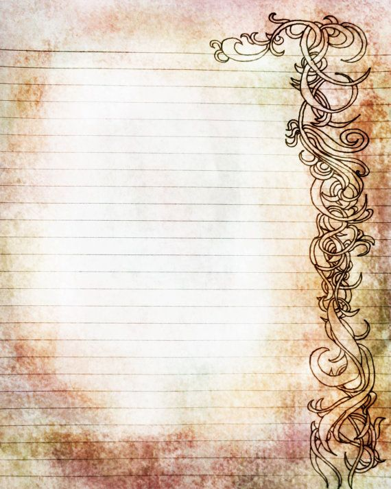 Printable Amber and Rose Colored Filigree Lined by JournalExpress