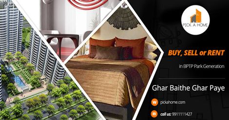 Looking to buy, sell or rent apartments in BPTP Park Generation, Gurgaon? Visit Pickahome.com - Gurgaon's no.1 property online portal for all your real estate needs. 1 Apartment are available for sale and  1 Apartment are available for rent in BPTP PARK GENERATION
