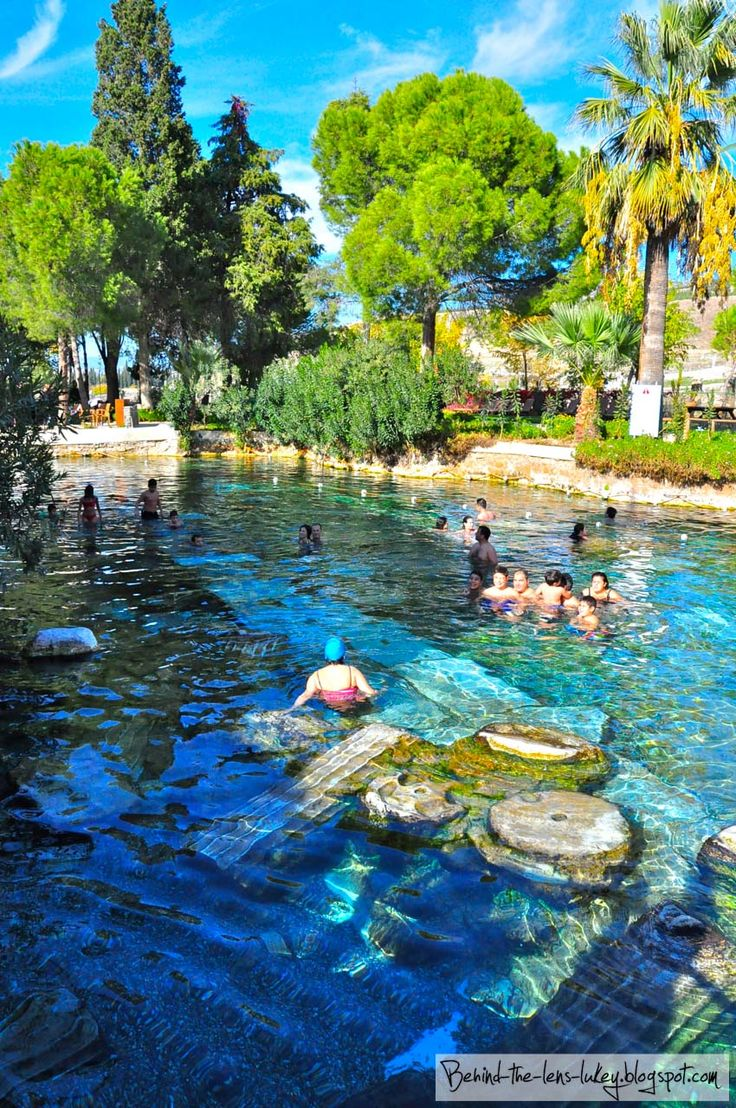 The thermal pools of Hierapolis, Pamukkale, Turkey
