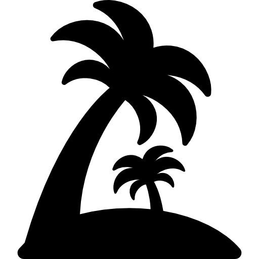 Island with palm trees I Free Icon