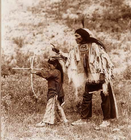 """My Father Gave Me the Strength of the Mountain; My Father Gave Me the Knowledge of Hunting; My Father Gave Me the Patience of the Wise Man; My Father Taught Me the Lessons of Life to Fulfill it's Purpose.""~~Indian boy and father (No date to photo, No tribe to attribute given)"