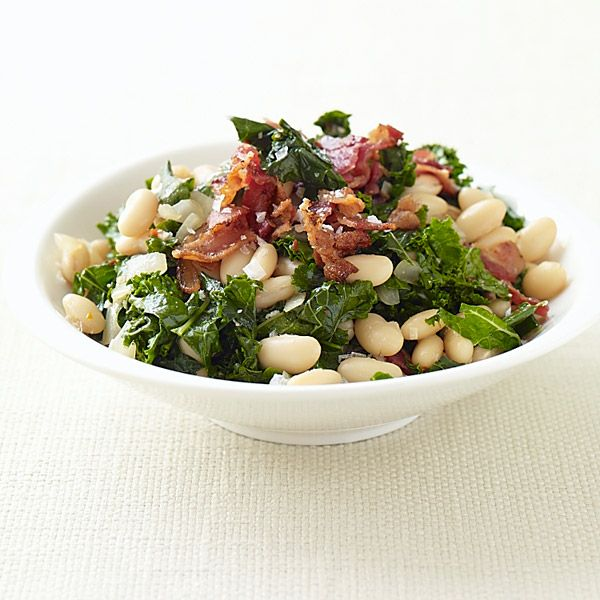 Kale with Bacon and Cannellini Beans | Healthy Recipes