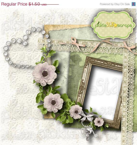 ON SALE Elegance Digital Scrapbook QUICKPAGE by PickleStarScraps