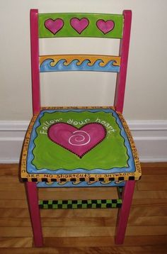 Follow your Heart painted Chair (adult size)