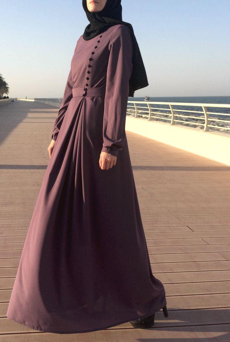 Double Pleats Crepe Dress - Dark Mauve by LanaLik on Etsy