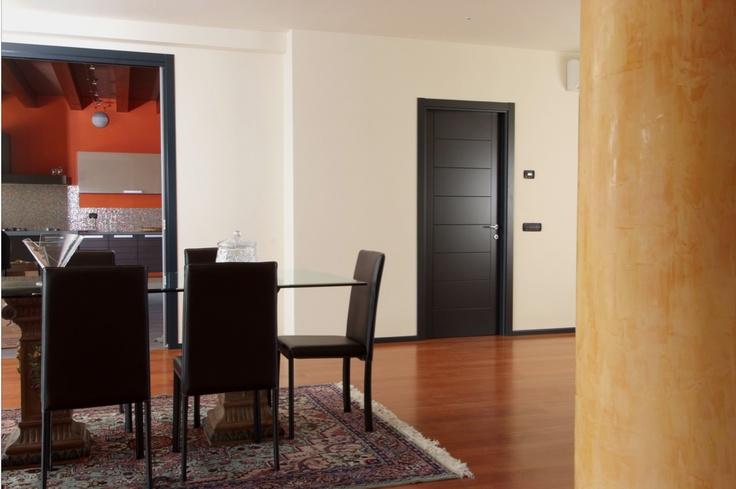 Flessya Wood door in an elegant living room.