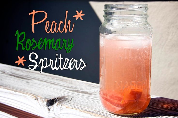 Peach & Rosemary Spritzers