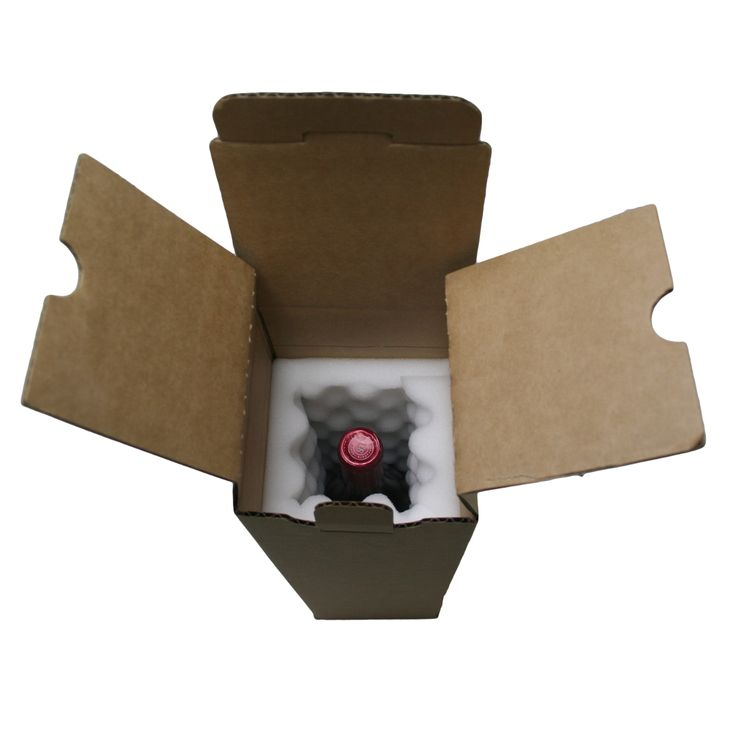 Foam Lined Wine Mailing Box (Single Bottle) - produced by Duncan Packaging