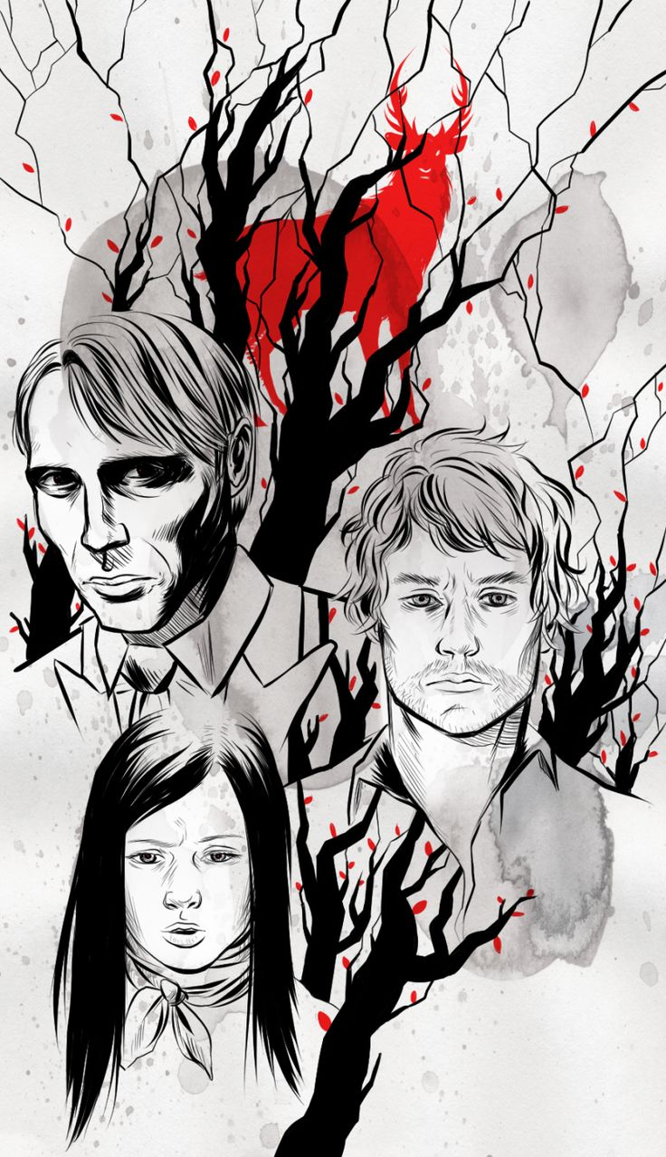 the stag, the fawn and the bloodhound by ~strayheadache on deviantART