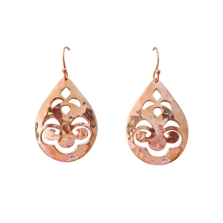 Small Tear Drop Earrings in Rose Gold. Shop the collection at www.murkani.com.au