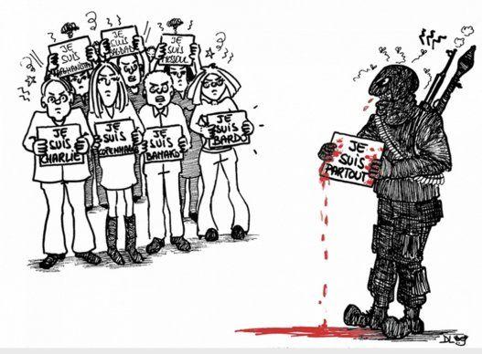 PHOTOS. La bulle de Dlog. Après l'attaque du musée du Bardo à Tunis, les caricaturistes du monde arabe prennent leurs crayons