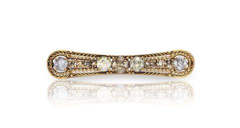"""A COLORED DIAMOND BAR BROOCH, BY LOUIS COMFORT TIFFANY, TIFFANY & CO. - kuin """"kissan kieli"""" suklaa ❤"""