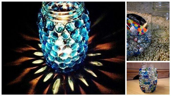 Facile e carino Pebble ricoperte Jars Mason | Diply