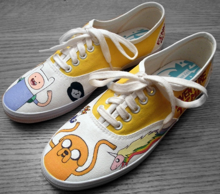 Adventure Time Shoes, want I want to do to mine.