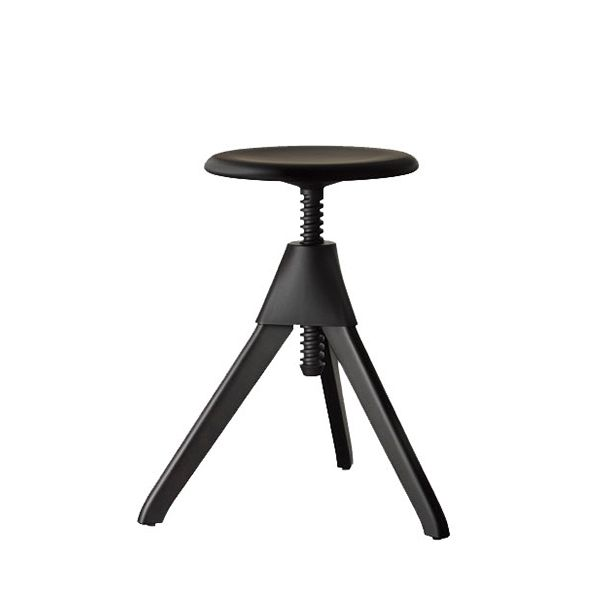 Tom and Jerry from Magis are Konstantin Grcic's playful take on the typical workshop stool. Their frame is crafted of solid beech and the mechanical parts are self-lubricating polypropylene.