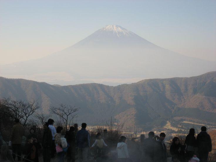 大涌谷からの富士山 2007.11