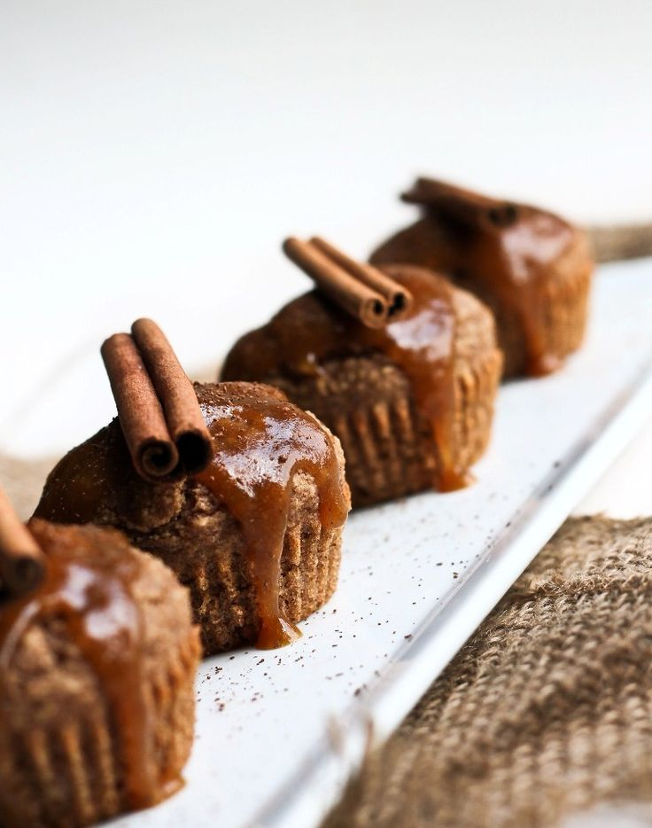 Vegan Sweet Potato Cinnamon Muffins with Out of This World Sweet Potato Caramel