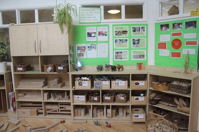 Construction area and documentation panels - AISWA International Study Visit - Wingate Children's Centre, Co Durham - Inspired EC ≈≈