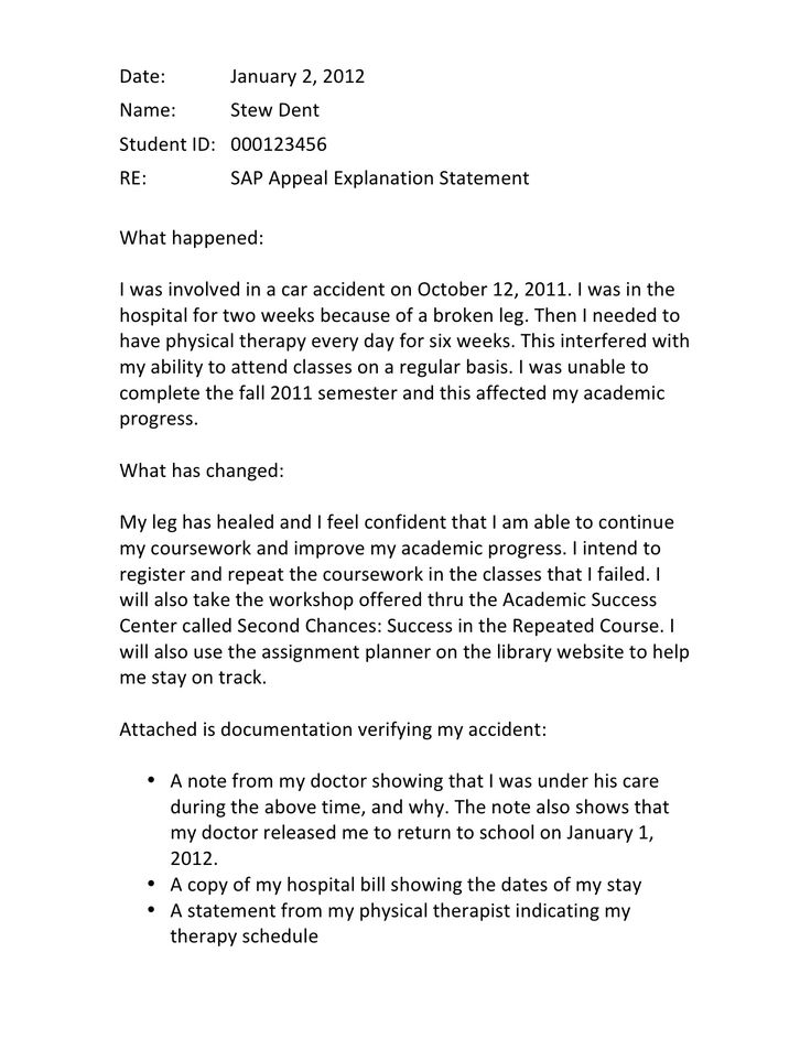 student appeal letter this kind of appeal letter by any student would most likely be