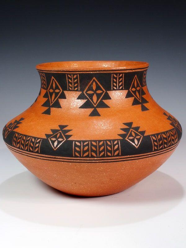 Santo Domingo Hand Coiled Pottery by Mark Wayne Garcia