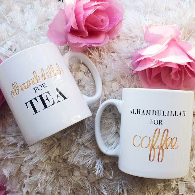 Tea and coffee mugs with an Islamic twist… the perfect Eid gift idea!