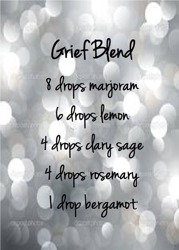 Young Living Essential Oils: Grief Blend #Aromatherapy