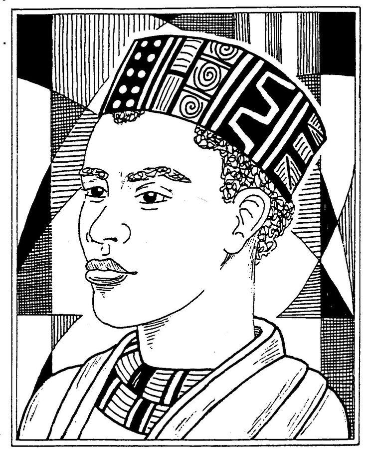 african american kids coloring pages - photo#7