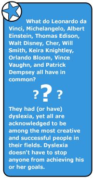 Article for teens about dyslexia:   http://kidshealth.org/teen/diseases_conditions/learning/dyslexia.html#