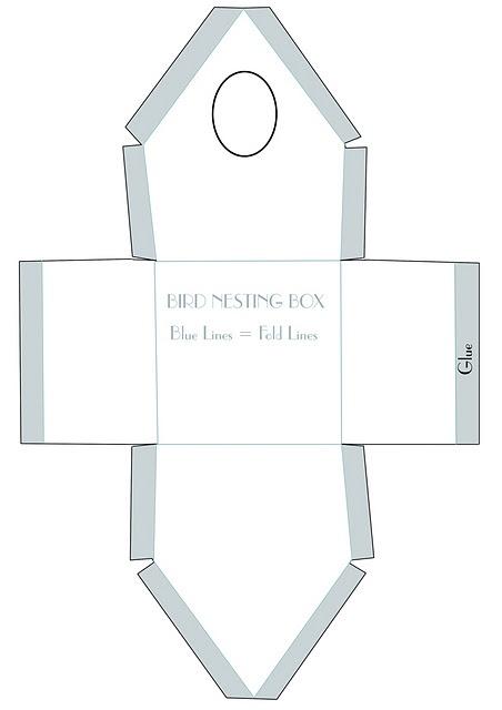 patrón casita de pajaritos