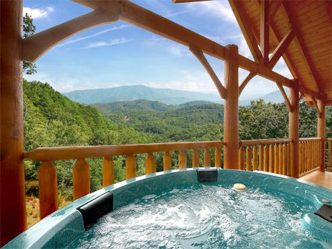 Clear view this 4 bedroom cabin has a breathtaking view - 3 bedroom cabins in gatlinburg tn cheap ...