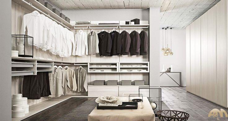 Cabina armadio ad angolo disposta su due pareti | Cabine armadio a ...