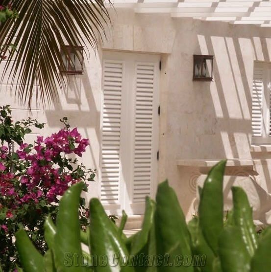 Coral Stone Wall Cladding : Limestone wall cladding dominican coral stone