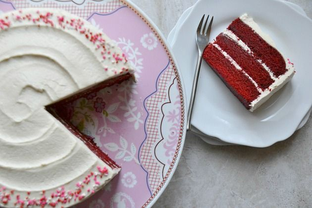 Classic Red Velvet Cake with Old-Fashioned White Frosting | KITCHEN TESTED