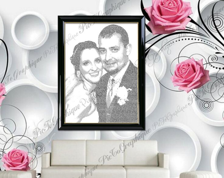 """Portrait """"Customized Photos From Your Wedding 02"""" Custom Portrait from Photo  #Canvas #Art using your #photos and #words. #Canvas #Wall #Decor #Personalized for you or your family using your #photos and words or #vow and #family #sign, great for a #wedding #gift, #engagement gift, #nurserydecor. #DigitalPrintStore on #Etsy"""