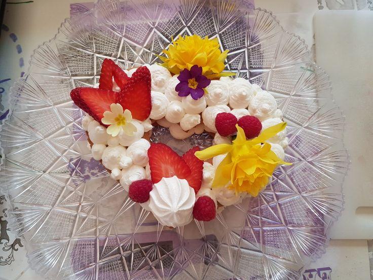 Cake tarte cuore di fiori