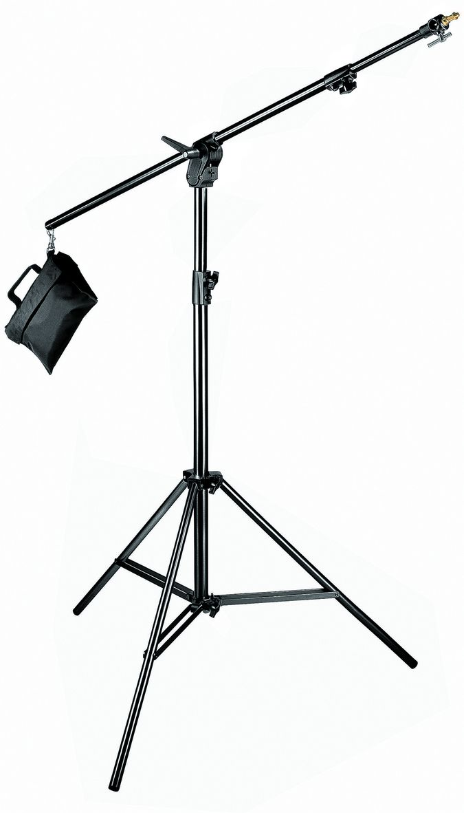 Black Combi-Boom Stand, 3-Section Stand With Sand Bag 420B - Boom Stands | Manfrotto
