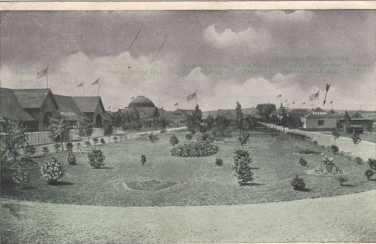 View of State Fair Grounds-Syracuse,New York Vintage Postcard