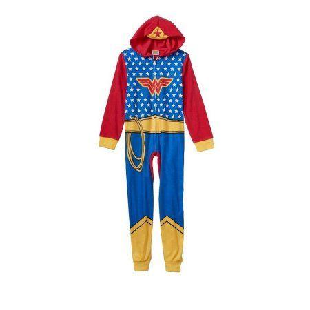 Girls DC Comics SuperHero Wonder Woman Blanket Sleeper