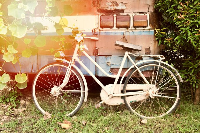 Vintage bicycle  by ptystockphoto on @creativemarket