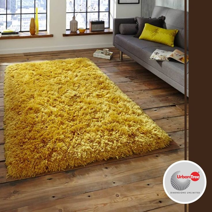 Like mentioned before, yellow complements brown so a yellow carpet will look brilliant on a wooden flooring.