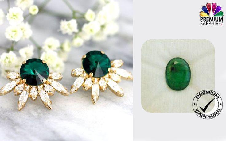 Shop for emerald panna stone online for wearing trendy jewelry earrings @ https://www.premiumsapphire.com/emerald-super-premium-grade.html