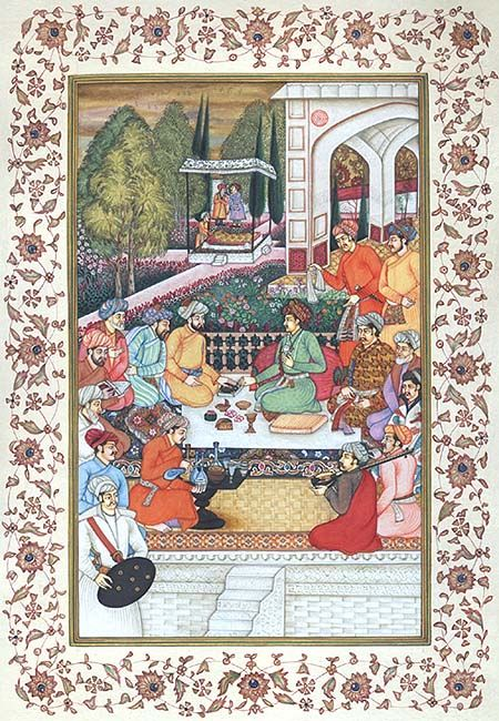 Dara Shikoh with Sages in a Garden
